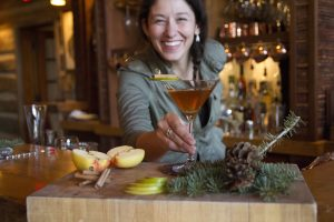 On-site bartenders create Montana-inspired cocktails.