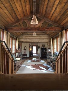 Inside the main lodge at The Ranch at Rock Creek.