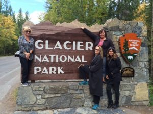 Welcome to Glacier National Park, ladies.