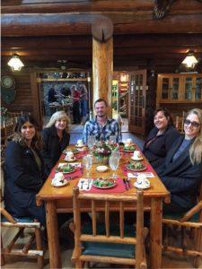 Lunch at Flathead Lake Lodge.