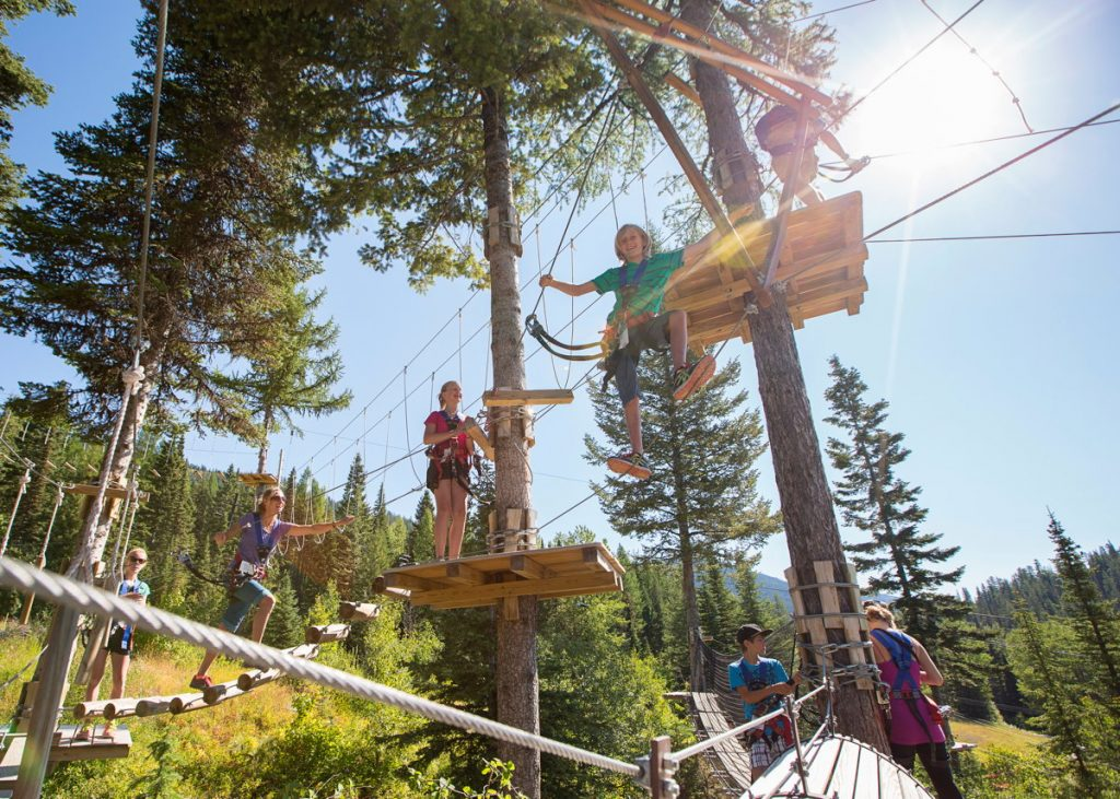 Team-building fun at Whitefish Mountain Resort. Photo: Whitefish Mountain Resort