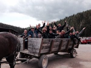 A group of international tour operators on a FAM tour in Montana.