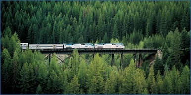 Amtrak's Empire Builder traveling through Western Montana. Photo: Amtrak